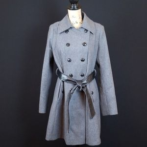 A.N.A A new Approach wool long double breast coat